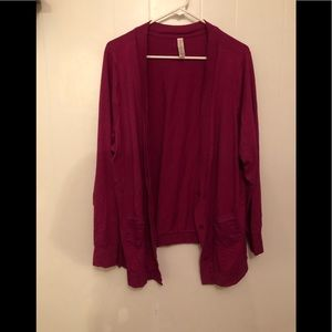 Cacique cardigan with lace pockets! NWOT